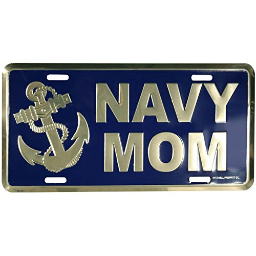 Honor Country Navy Mom License Plate