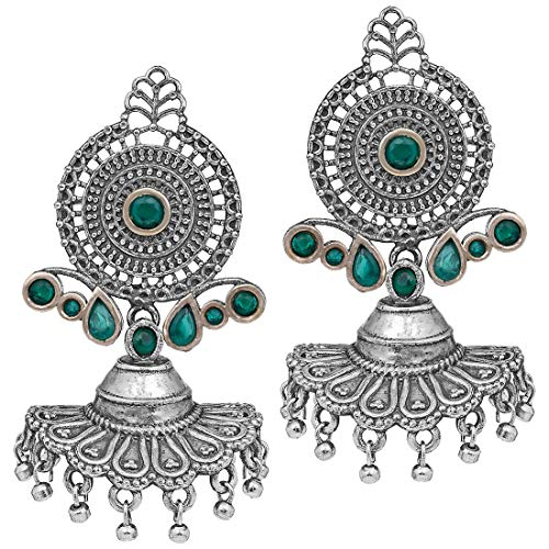 Aheli Vintage Bohemian Inspired Oxidized Dangle Earrings for Indian Women Ethnic Fashion Jewelry (Best Selling Perfumes For Ladies In India)