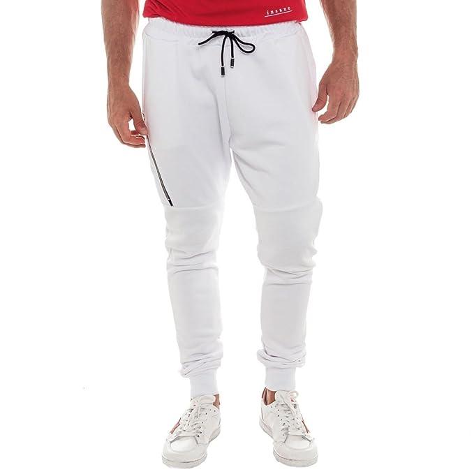 LANDEK PARK Pantalone Tuta LPF024 - LPF024 Bianco EcTEk
