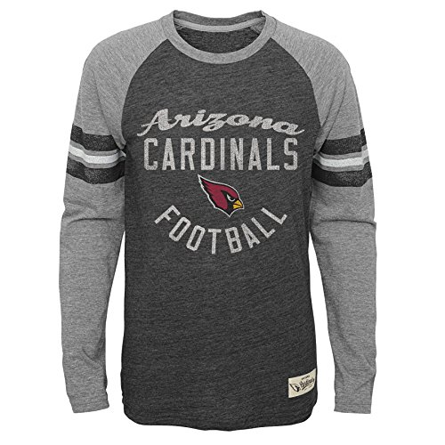 NFL Youth Boys Football Pride Pride Long Sleeve Tee-Heather Black-S(8), Arizona Cardinals