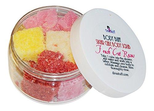 - Diva Stuff Fresh Cut Roses Scent Sugar Scrub, Exfoliates and Hydrates Skin, 8 Oz