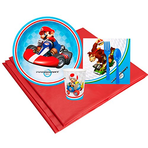 Mario Kart Wii Childrens Birthday Party Supplies - Tableware Party Pack (8)]()