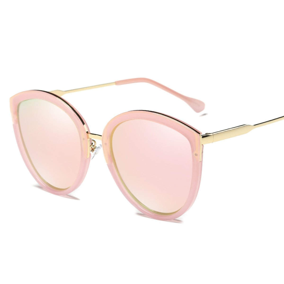 WKAIJC Mode Damen Polarisiertes Licht Kreisförmig Persönlichkeit Bequem Kreativ Schöne Sonnenbrillen Mode Sonnenbrillen,E