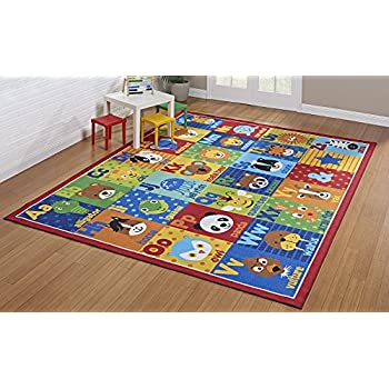 Amazon Com Smithsonian Rug Abc Alphabet Learning Carpets