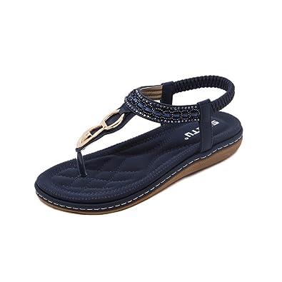 e6f9386e91f31d Beautyjourney Sandale Compensee Noire, Sandale Femme Pas Cher Sandale  Gladiateur Femme,Sandales Plates D'éTé Bohemia Beach Sandales: Amazon.fr:  Chaussures ...