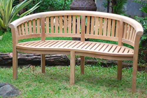 Premium Grade A Teak Kensington Curved Arm 3 Seater Bench 63
