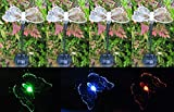 Tektrum Solar Garden Color Changing Butterfly Stake Lights (Set of 4)