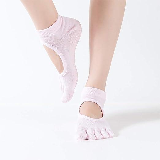 CAMORNY Calcetines de Yoga Calcetines Antideslizantes de algodón ...
