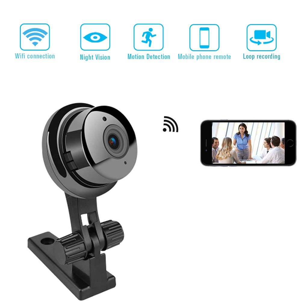 Mini WiFi Spy Camera, Wireless WiFi Hidden Camera, HD 1080P Covert Security  Video Camera, Wireless Nanny Cam with Night Vision and Motion Detection