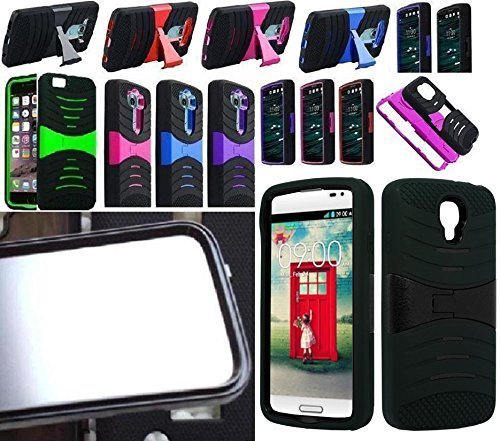 [ NP ARMOR ] Built in Screen Guard Protector Faceplate Phone Cover Case for LG F70 / LG Access LTE / L31G L31C L31L (uSKYBLUE/Pink)