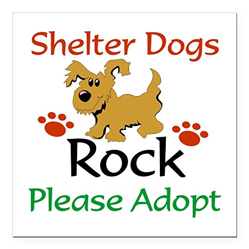 (CafePress - Shelter Dogs Rock Please Square Car Magnet 3&Quot; - Square Car Magnet, Magnetic Bumper Sticker)