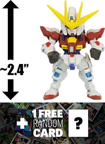 BG-011B Build Burning Gundam: Fusion Works FW Gundam Converge Series #20 + 1 FREE Official Japanese Gundam Trading Card Bundle [#114]