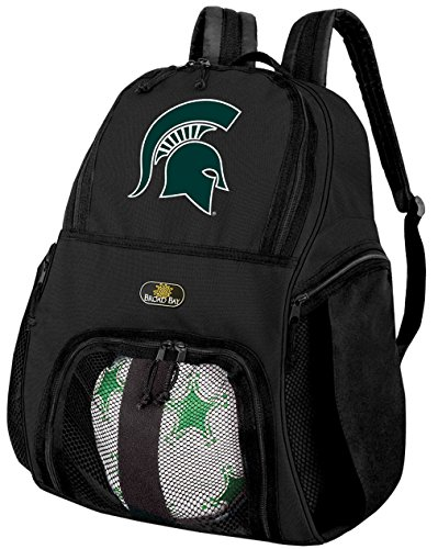 Broad Bay Michigan State University Soccer Backpack or Michigan State Volleyball Bag (Ball Michigan University Soccer)