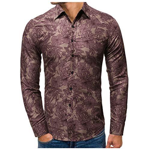 SNOWSONG Men's Casual Slim Fit Dress Shirt Tops Soft Long Sleeve Button up Dress T Shirt