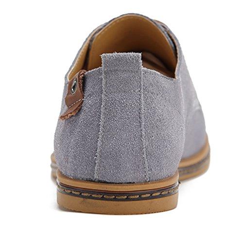 los Gris Oxfords Zapatillas YiJee Extra Hombre Cordones Zapatos de Ocio Talla Z0qTUqnwF