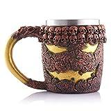 FZZ698 3D Coffee Mug ResinViking Skull Double Wall Christmas Cup Halloween Supply Gift (multi)