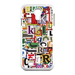 Samsung Galaxy S4 Case Colorful Clippings for Women, Case for Samsung Galaxy S4 Mini Jackalondon, {White}