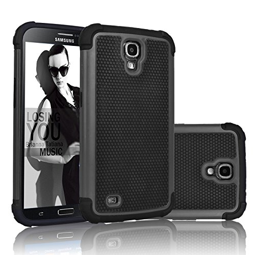 Galaxy Mega 6.3 Case, Njjex [Nveins] Shock Absorbing Hybrid Dual Layer Rubber Plastic Impact Armor Defender Bumper Rugged Hard Case Cover Shell For Samsung Galaxy Mega 6.3 i9200/i9205/i527 [Black]