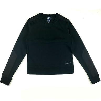 339e9b35b86a Nike Women s Crew Neck Jumper - Black-S  Amazon.co.uk  Clothing