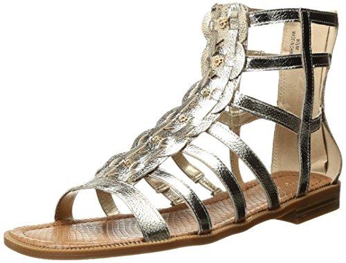 Nine West Women's Xeron Metallic Gladiator Sandal, Gold, 6 M (Nine West Gladiator Sandals)