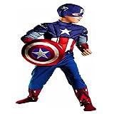 Captain America Avengers Classic Muscle Child (Medium, 7-8)
