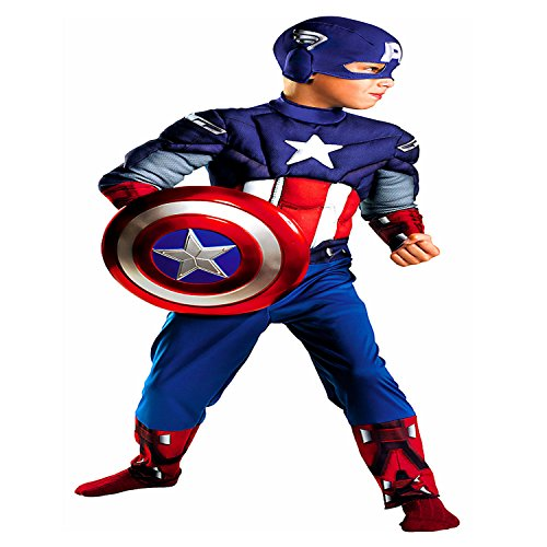 Captain+America Products : Captain America Avengers Classic Muscle Child (Medium, 7-8)