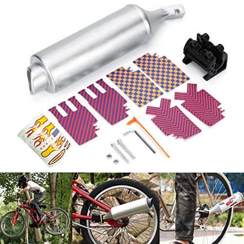 Bicycle Exhaust Muffler System Motorcycle Megaphone Pipe Sounds Noise BMX Bike Engine - Body & Frame Exhaust Systems & Muffler Parts - 1 X Bicycle Turbo Spoke Pipe, 1 X ()