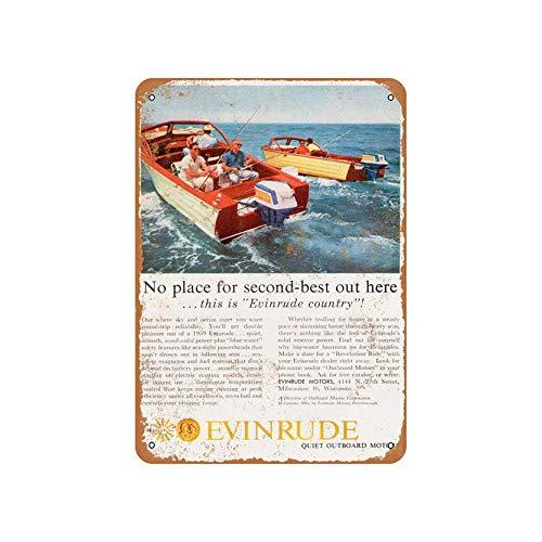 - Vintage Metal Sign 1959 Evinrude Outboard Motors Wall Art Decor Home Living Bedroom Dinning Room Sign 8x12