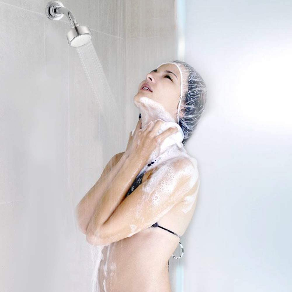 Gophra High Pressure Stainsteel 304 Shower Head,Comfortable Bath and Water Saving