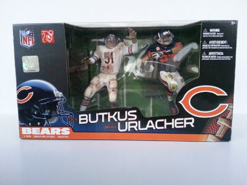 McFarlane Toys NFL Sports Picks Action Figure 2Pack Dick Butkus Brian Urlacher (Chicago Bears) by McFarlane