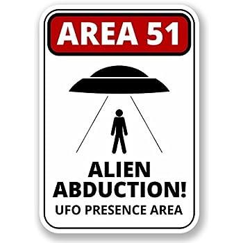 2 x UFO Alien X-Files Area 51 Vinyl Sticker Laptop Travel Luggage #4058
