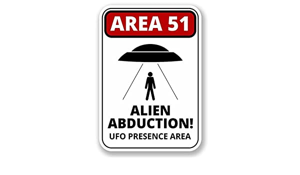Amazon.com: 2 x 20cm/200mm Area 51 Alien Abduction Vinyl ...