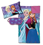 Toys : Jay Franco Disney Frozen 3 Piece Sleepover Set - Cozy & Warm Kids Slumber Bag with Pillow & Eye Mask Featuring Elsa and Anna (Official Disney Product)