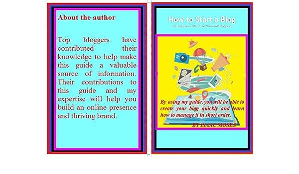 How to start a Blog (English Edition) eBook: Isaac Moses: Amazon.es: Tienda Kindle