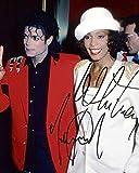 Michael Jackson & Whitney Houston reprint signed photo #2 RP