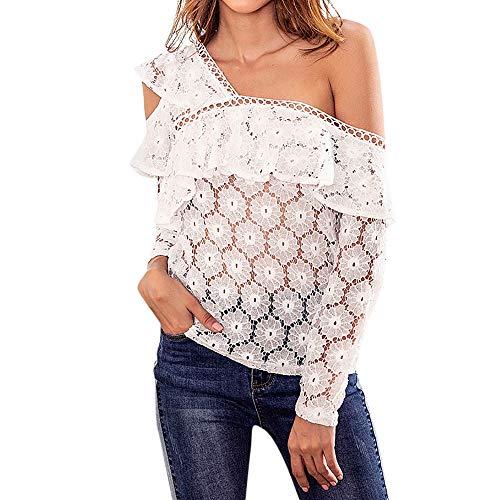t Manches Longue et Dcontracte Sweatshirts en T 1 Chic Vrac Femmes Mode Chemise Blouse Shirt Blanc Haut Top Sexy Automne Vetements OVERMAL wEqHgXtW