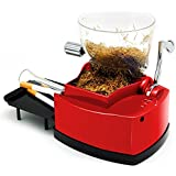 IBAMA Electric Cigarette Injector Maker Rolling Machine with Tobacco Hopper, Removable Catch Tray, Indicator, Red, Clean Kit,