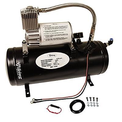 Viking Horns V3305 1.5 Gallon Air Tank & air Compressor Kit, On-Board Air System for Train Air Horn: Automotive