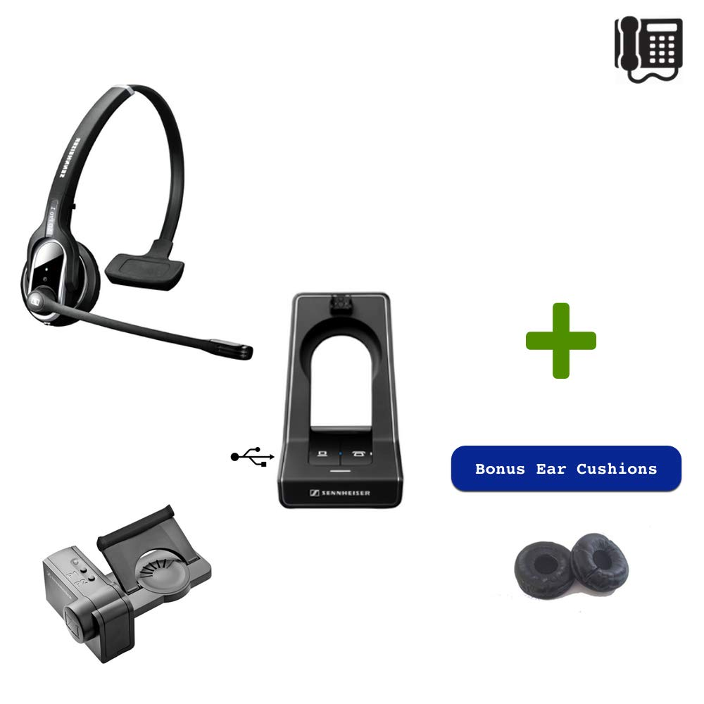 Sennheiser SD PRO1 - Deskphone Cordless Headset Bundle 506007-B- Remote Answering Lifter | for Cisco, Polycom, Avaya, Yealink, ShoreTel and Other Business Desk Phones | Compatible with IP Telephones