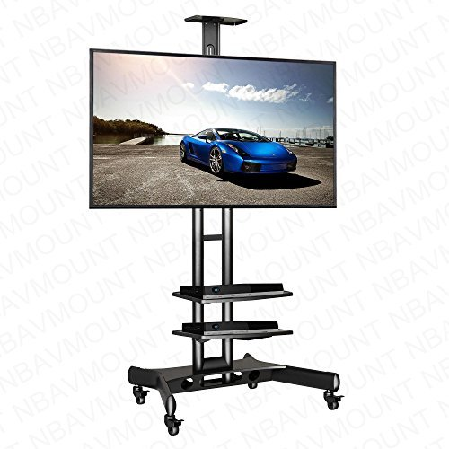 NORTHBAYOU CA55 Multi-Functional Mobile TV Cart for 32