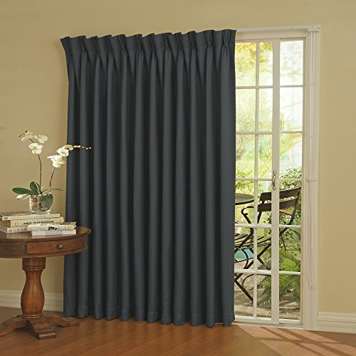 (Eclipse Thermal Blackout Patio Door Curtain Panel, 100-Inch x 84-Inch, Storm Blue)