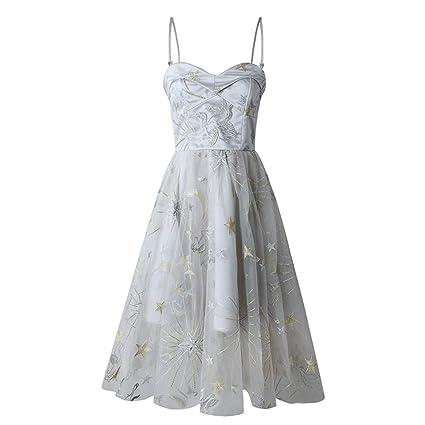 7fb1523cd Vestido de la dama de honor Las mujeres sin mangas de la tarde vestido de  fiesta bordado floral ...