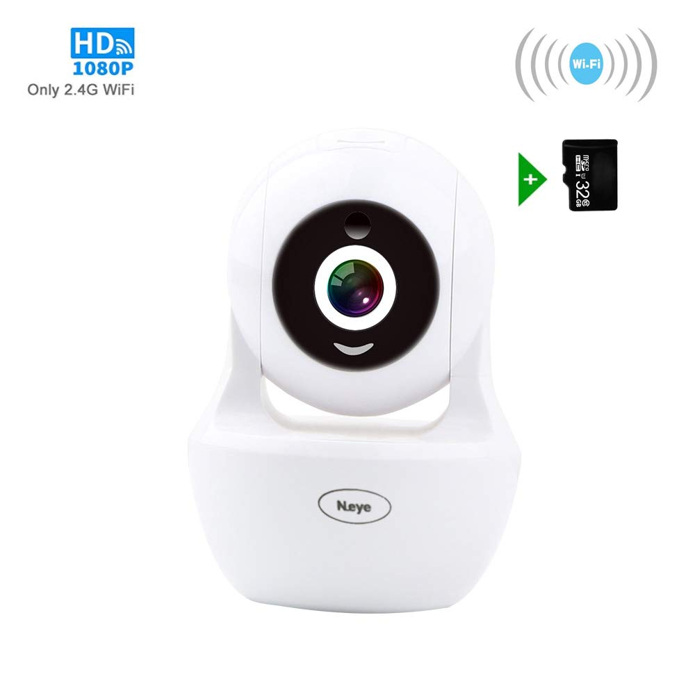 Wireless Camera Indoor,Wireles WiFi Camera, 1080P HD Wireless Night Vision  Camera, Pet Monitoring Baby Camera, Built-in 32G Memory Card,IR LED