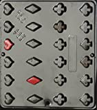 Playing Cards Suits Hearts Diamonds Clubs Spades Chocolate Candy Mold 530