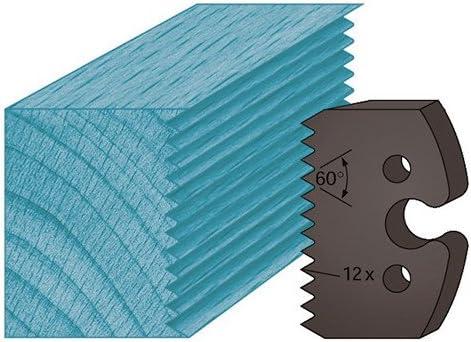 Diamwood Platinum Jeu de 2 fers profil/és Ht 50 x 5,5 mm enture multiple 4 mm M203 pour porte-outils de toupie Diamwood Platinum
