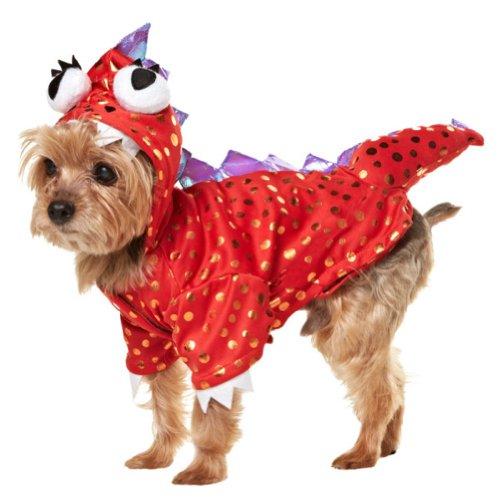 Martha Stewart Pets® - Red Polka Dot Dinosaur - Dress Up Dog Costume (X-Small)