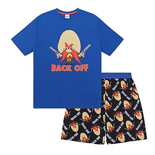 Tunes Sam - Looney Tunes Yosemite Sam Official Gift Mens Short Pajamas Small