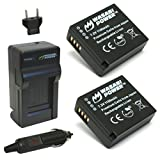 type 109 leica - Wasabi Power Battery (2-Pack) and Charger for Leica BP-DC15 and Leica D-Lux (Type 109)