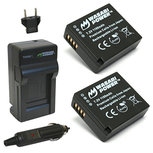 Leica Hand Grip - Wasabi Power Battery (2-Pack) and Charger for Leica BP-DC15 and Leica D-Lux (Type 109)