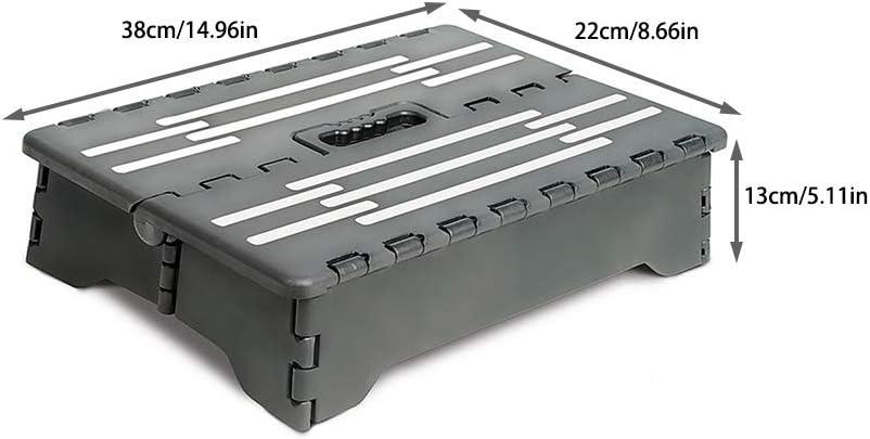 Vaious Taburete Plegable, Taburete de escalón Plegable portátil de plástico PP Antideslizante Escalera Auxiliar para Embarazadas Mayores: Amazon.es: Jardín